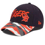 Detroit Tigers Youth Camo Glow 9FORTY Adjustable Hat by New Era
