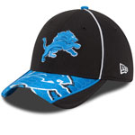 Detroit Lions Hex Charge 39THIRTY Performance Stretch Fit Hat by New Era
