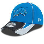 Detroit Lions Pipe Force 39THIRTY Stretch Fit Hat by New Era