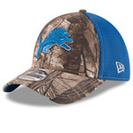 Detroit Lions Realtree Camo Neo 39THIRTY Stretch Fit Hat by New Era