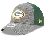 Green Bay Packers Shadow Turn 9FORTY Adjustable Hat by New Era