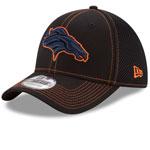 Denver Broncos Shock Stitch Neo 39THIRTY Stretch Fit Hat - Black by New Era