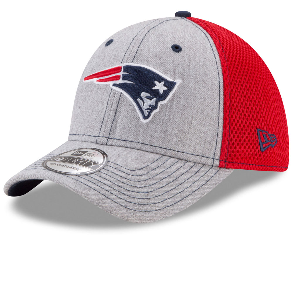 buy online 93750 e0b73 ... uk new england patriots heathered neo 2 39thirty stretch fit hat by new  era 08587 e1112