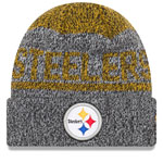Pittsburgh Steelers Layered Chill Cuffed Knit Hat by New Era