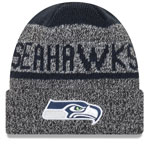 Seattle Seahawks Layered Chill Cuffed Knit Hat by New Era