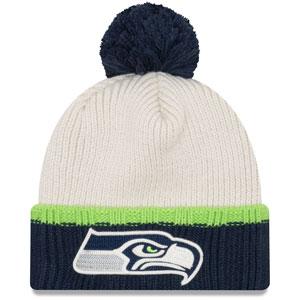 4f443fc5365f04 ... inexpensive seattle seahawks prime team pom cuffed knit hat by new era  b5430 cfd68