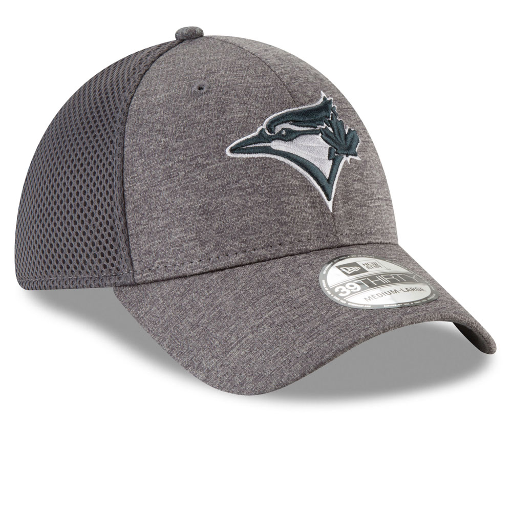 bce1761a4dd ... Toronto Blue Jays Classic Shade Neo 39THIRTY Stretch Fit Hat - Graphite  by New Era ...