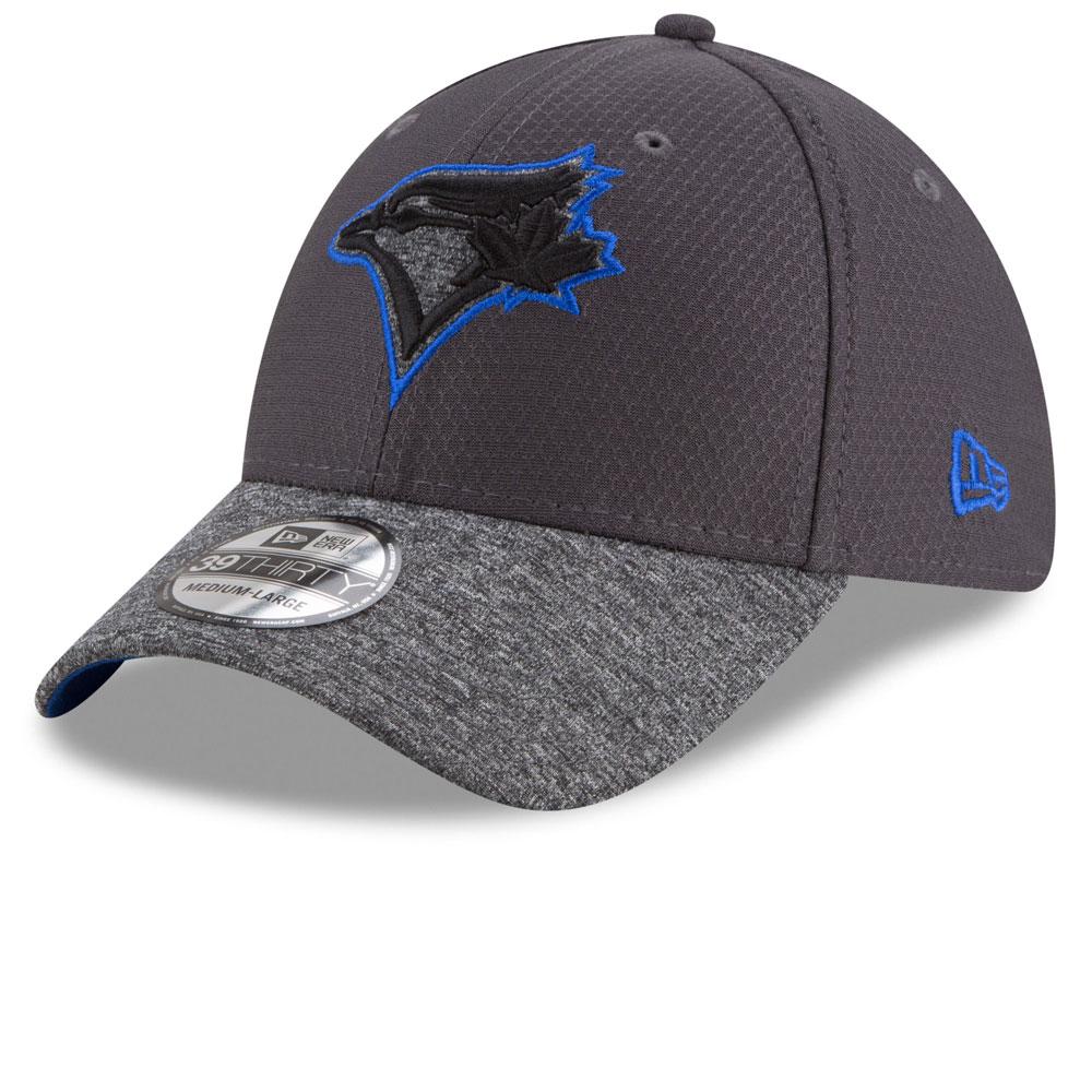 size 40 ad262 78fbf Toronto Blue Jays Popped Shadow 39THIRTY Stretch Fit Hat - Graphite