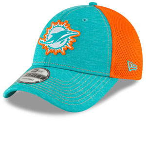 Miami Dolphins Surge Stitcher 9FORTY Adjustable Hat by New Era
