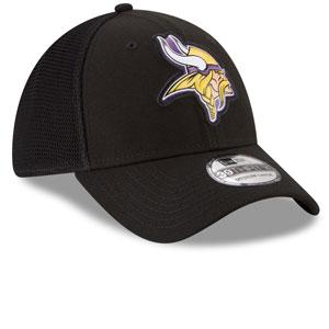 size 40 0c1ee 75877 ... Minnesota Vikings Fan Mesh 39THIRTY Stretch Fit Hat - Black by New Era  ...