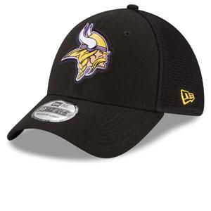 low cost ff282 099c1 Minnesota Vikings Fan Mesh 39THIRTY Stretch Fit Hat - Black