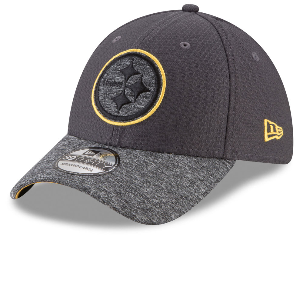 more photos e50f7 b7172 ... coupon code for pittsburgh steelers popped shadow 39thirty stretch fit  hat graphite by new era 0dc16