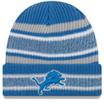 Detroit Lions Vintage Stripe Cuffed Knit Hat by New Era