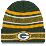 Green Bay Packers Vintage Stripe Cuffed Knit Hat by New Era