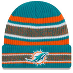 Miami Dolphins Vintage Stripe Cuffed Knit Hat by New Era