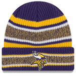 Minnesota Vikings Vintage Stripe Cuffed Knit Hat by New Era