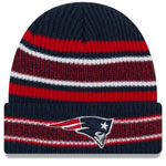 New England Patriots Vintage Stripe Cuffed Knit Hat by New Era
