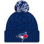Toronto Blue Jays Women's Cozy Cable Pom Cuffed Knit Hat by New Era