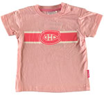 Montreal Canadiens Infant Girls Pink Glitter Team Logo T-Shirt by Mighty Mac