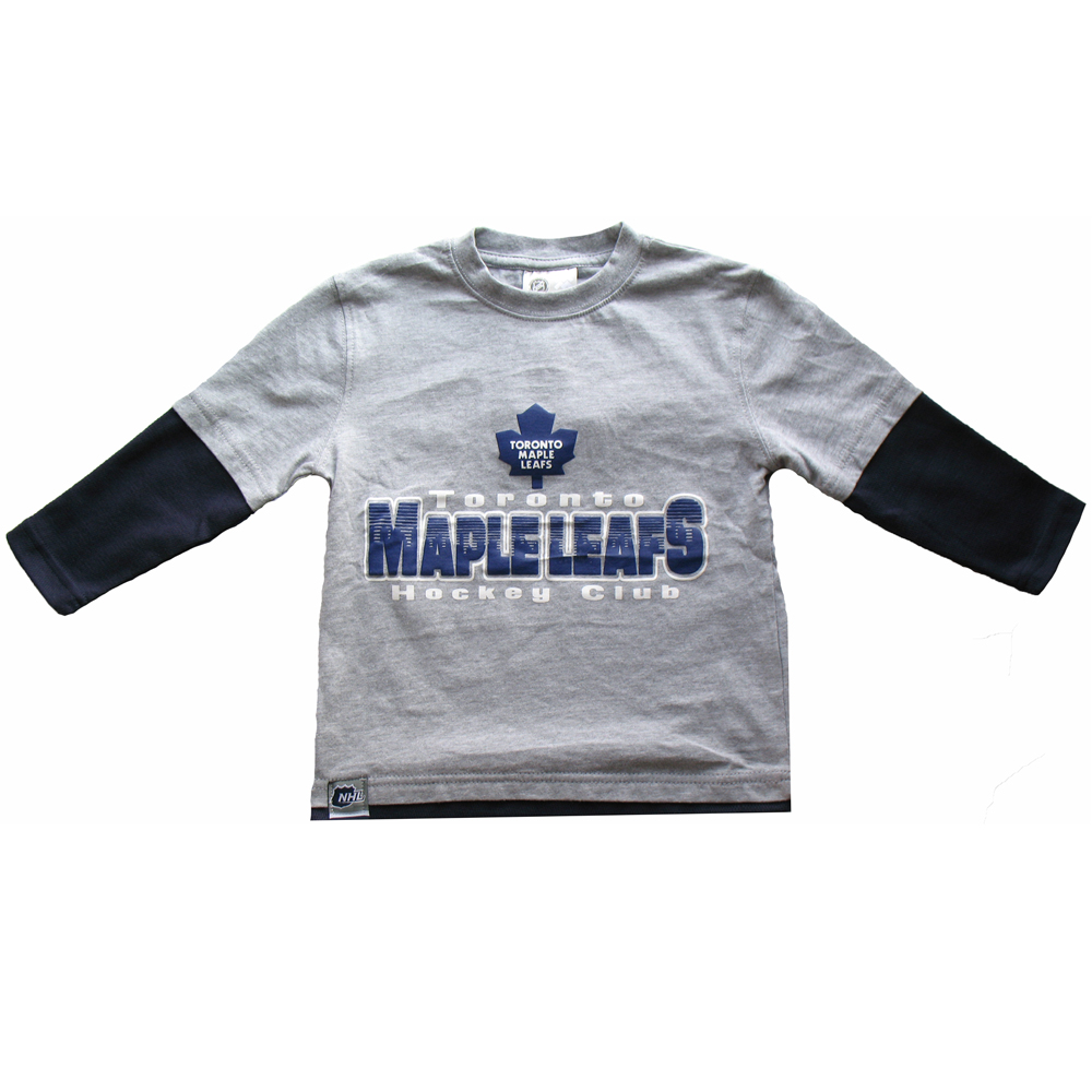 Toronto Maple Leafs Child Essential Faux Layer Long Sleeve T-Shirt by Mighty Mac