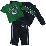 Vancouver Canucks Infant Zip-Up Jacket, Pant & T-Shirt Set by Mighty Mac
