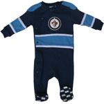 Winnipeg Jets Newborn Face Off Sleeper by Mighty Mac