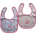 Edmonton Oilers Girls Pink 2-Piece Baby Bib Set by Mighty Mac