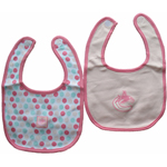 Vancouver Canucks Girls Pink 2-Piece Baby Bib Set by Mighty Mac
