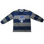 Toronto Maple Leafs Child Rugby Stripe Long Sleeve T-Shirt by Mighty Mac