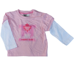Toronto Maple Leafs Infant Girls Pink Faux Layer Long Sleeve T-Shirt by Mighty Mac