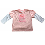 Montreal Canadiens Toddler Girls Pink Faux Layer Long Sleeve T-Shirt by Mighty Mac
