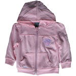 Edmonton Oilers Toddler Girls Pink Full-Zip Fleece Hoodie by Mighty Mac