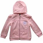 Toronto Maple Leafs Toddler Girls Pink Full-Zip Fleece Hoodie by Mighty Mac