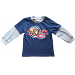 Montreal Canadiens Newborn Long Sleeve Layered T-Shirt by Mighty Mac