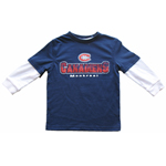 Montreal Canadiens Toddler Distressed Faux Layer Long Sleeve T-Shirt by Mighty Mac