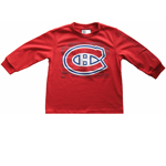 Montreal Canadiens Toddler Logo Long Sleeve T-Shirt by Mighty Mac