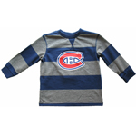 Montreal Canadiens Toddler Rugby Stripe Long Sleeve T-Shirt by Mighty Mac