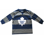 Toronto Maple Leafs Youth Rugby Stripe Long Sleeve T-Shirt by Mighty Mac
