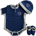 Vancouver Canucks Newborn Creeper, Hat & Booties Set by Mighty Mac