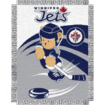 Northwest Winnipeg Jets Triple Woven Jacquard 36''x46'' Baby Throw Blanket