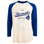 Toronto Maple Leafs Avoca Long Sleeve Raglan T-Shirt by Old Time Hockey