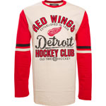 Detroit Red Wings Chisel Long Sleeve T-Shirt by Old Time Hockey