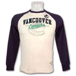 Vancouver Canucks Cicero Raglan Long Sleeve T-Shirt by Old Time Hockey