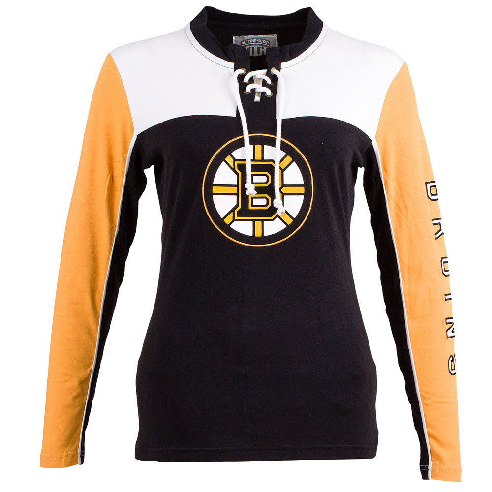 TheSportsDen.ca  Boston Bruins Women s Visp Long Sleeve Lace Up Top ... 3f7476e97