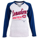 Montreal Canadiens Women's Jura Long Sleeve Raglan T-Shirt by Old Time Hockey