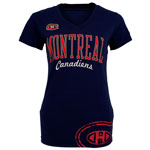 Montreal Canadiens Women's Carsoli V-Neck T-Shirt by Old Time Hockey