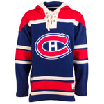 Montreal Canadiens Alternate Lacer Heavyweight Pullover Hoodie by Old Time Hockey