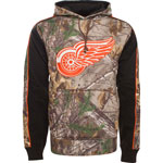 Detroit Red Wings Realtree Camo Decoy Pullover Fleece Hoodie by Old Time Hockey