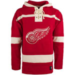 Detroit Red Wings Lacer Pullover Fleece Hoodie by '47