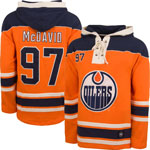 Connor McDavid Edmonton Oilers Lacer Pullover Fleece Hoodie by '47
